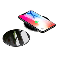 10W Round Portable charger Qi Fast charging Phone Wireless Charger