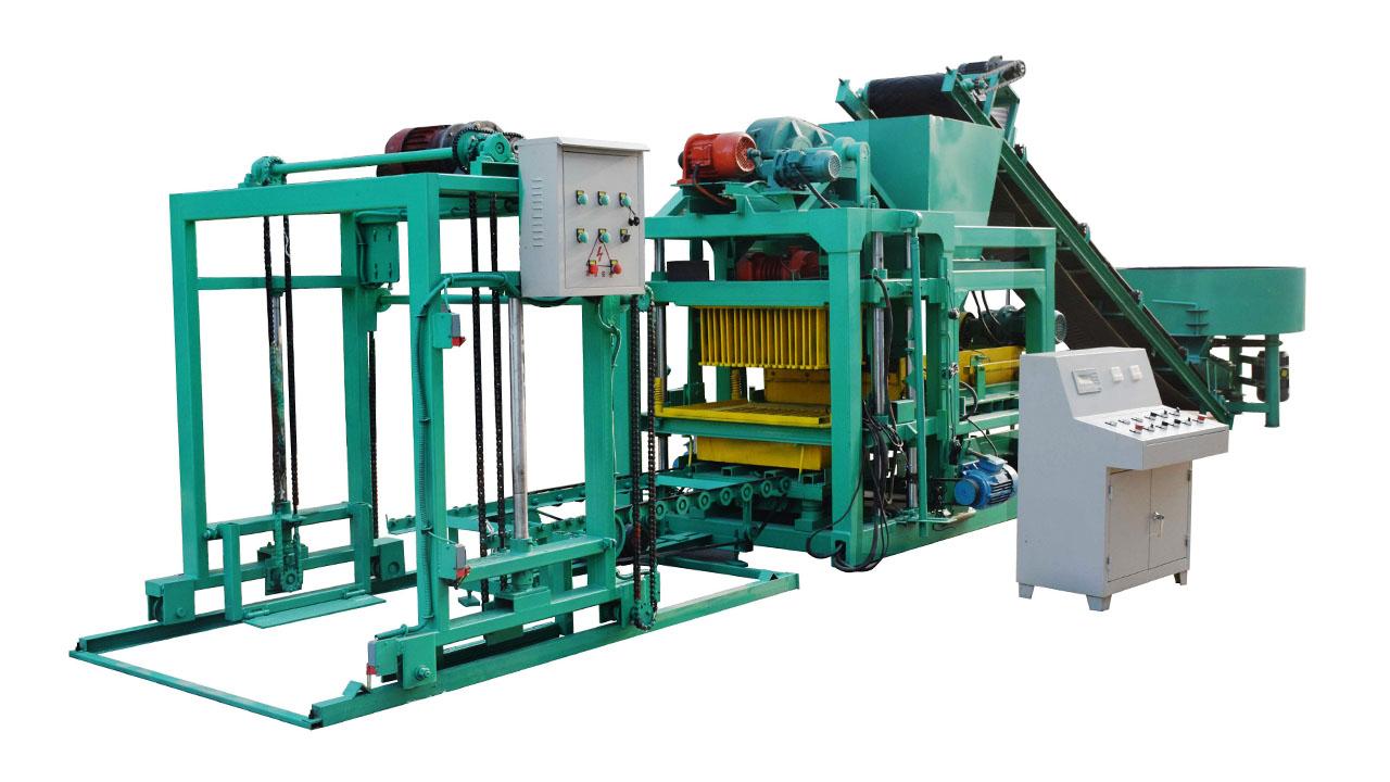 qt4-25A semi-automatic concrete hollow block making machine