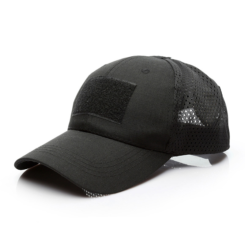 Adjustable Mesh Sports Military Tactical Hook and Loop Hat Baseball <strong>Cap</strong> for Men with Embroidered US Flag Patch