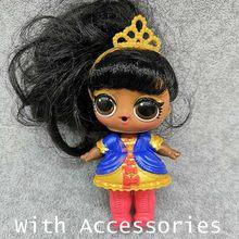 Оригинальные куклы LOL Surprise, оригинальные куклы Lol, куклы для волос, блестящие ПВХ фигурки, модель, детские игрушки, подарки на день рождения д...(Китай)