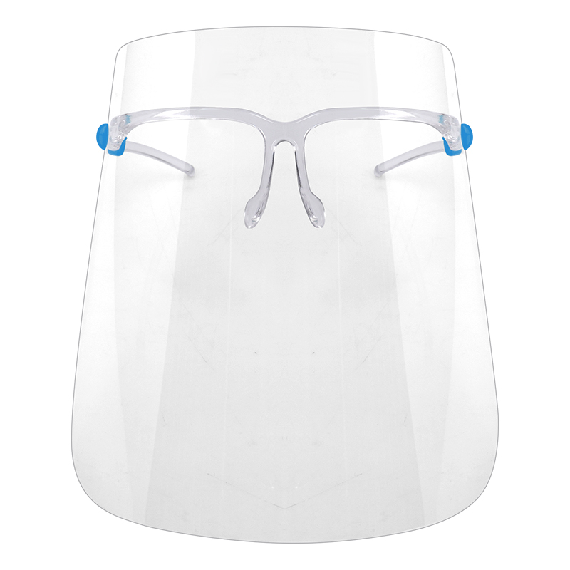 Reusable Transparent Safety with Clear Film and Elastic Band Plastic Cover Full glasses frame Face Shield
