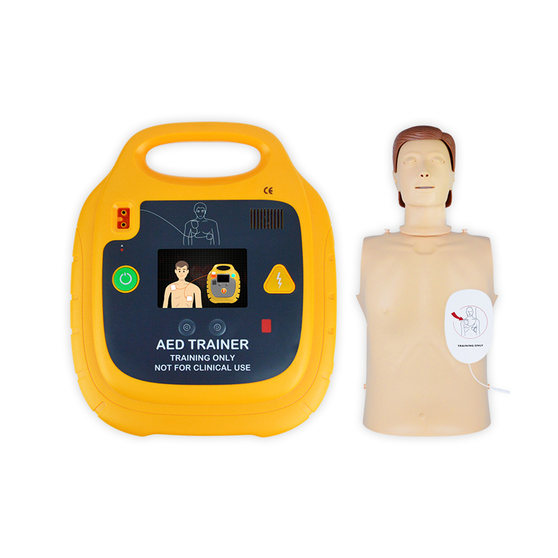 AED signs AED trainer and defibrillator storage cabinets