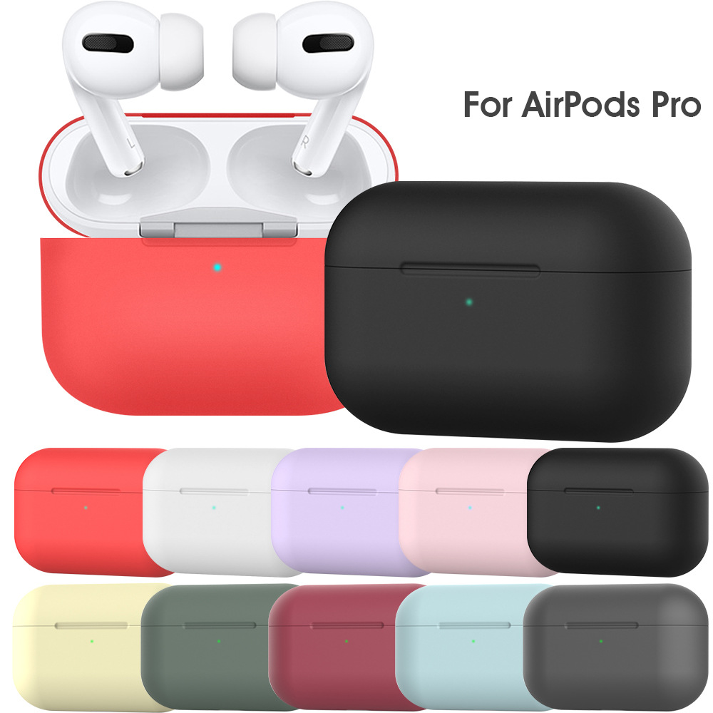 New Colorful Soft Silicone Protective Cover for Apple airpods pro airpod pro case for airpods 3 2019 Earphone Accessories