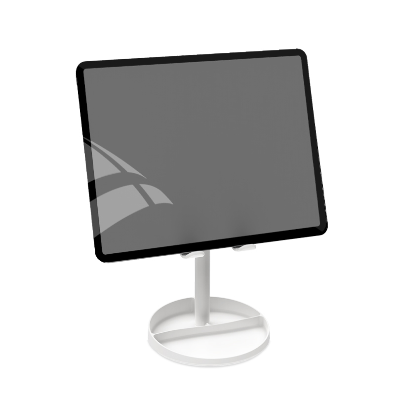 WiWU Cell Phone Stand for Desk height angle adjustable mobile stand with organise area and cosmetic mirror