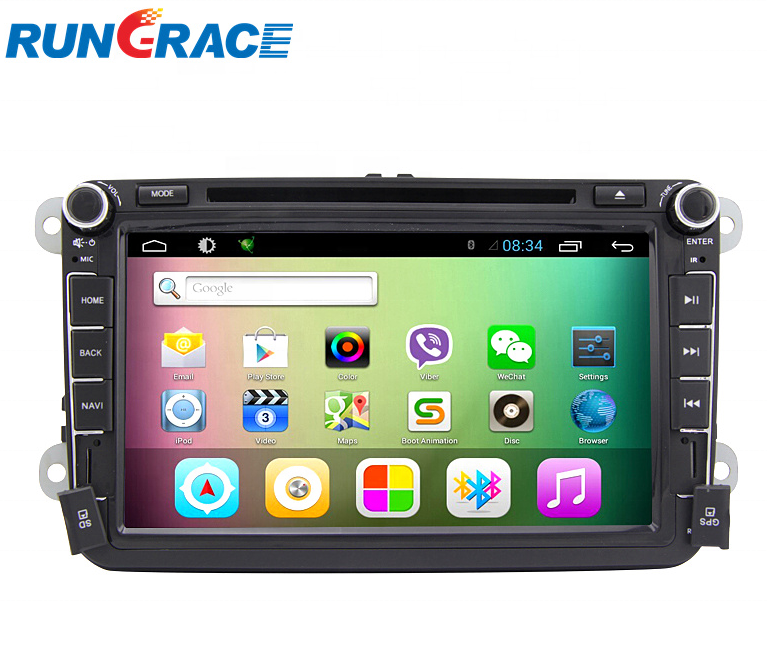 8-Zoll-OEM-Android-Double-Din-Quad-Core-16G-Android-Auto-DVD-Player für VW Polo / Golf / Tiguan Jetta / Passat / Skoda Rapid / Yeti