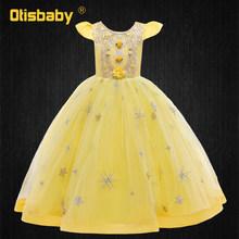 Платья знаменитостей для девочек, тюлевые Цветочные Детские платья Eleghant, свадебное платье, выпускные детские длинные вечерние платья(Китай)