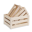 New design customized natural color Household storage box unfinished pine wooden crate