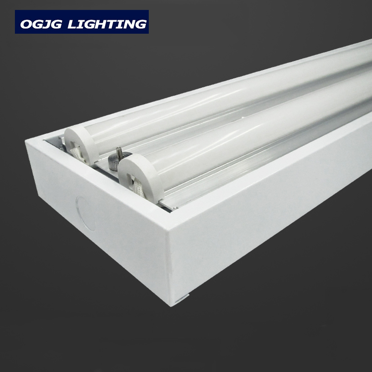 High brightness 100-277V rechargeable emergency lighting 40w 60w surface mounted replace T5 tube light led batten