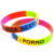 Factory direct selling custom hand bracelets for men logo wristband silicone charm bracelet