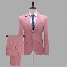 Мужской костюм s из 2 предметов, темно-синий костюм, новинка 2020, на одной кнопке, с отворотом, смокинг, деловой мужской костюм, для формальной с...(China)