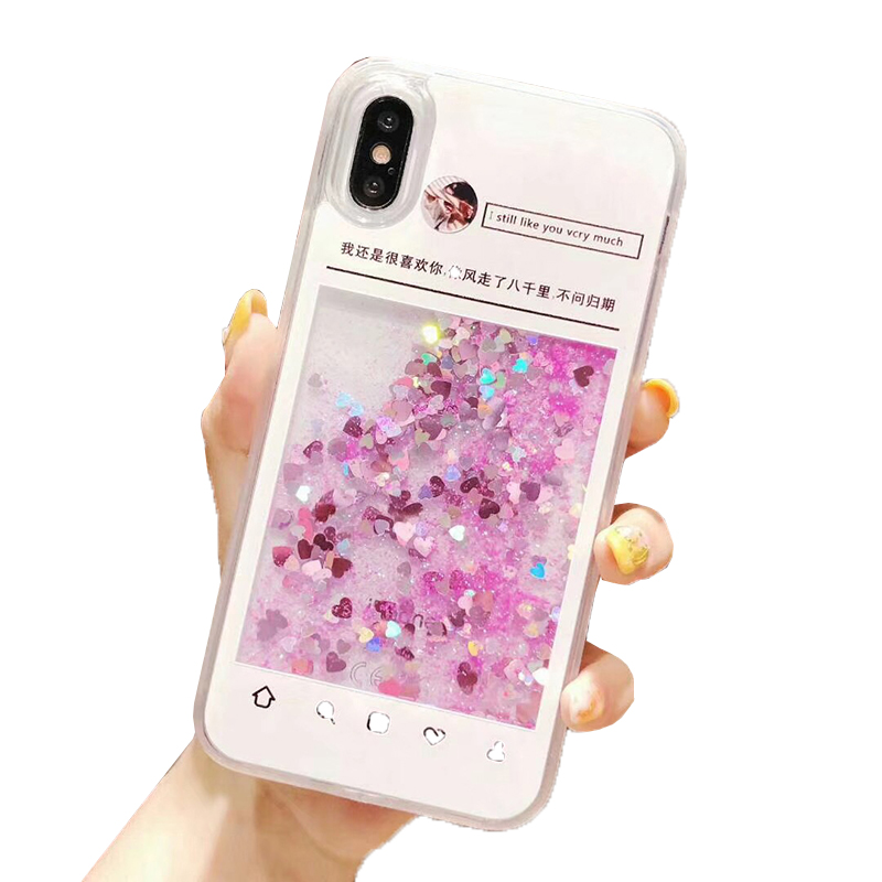 2019 Heet Verkoop Luxe Bling Clear Water Drijvende Dolfijn Ice Scream Patroon Quicksand Liquid Telefoon Case Voor iPhone x max 6s 7plu