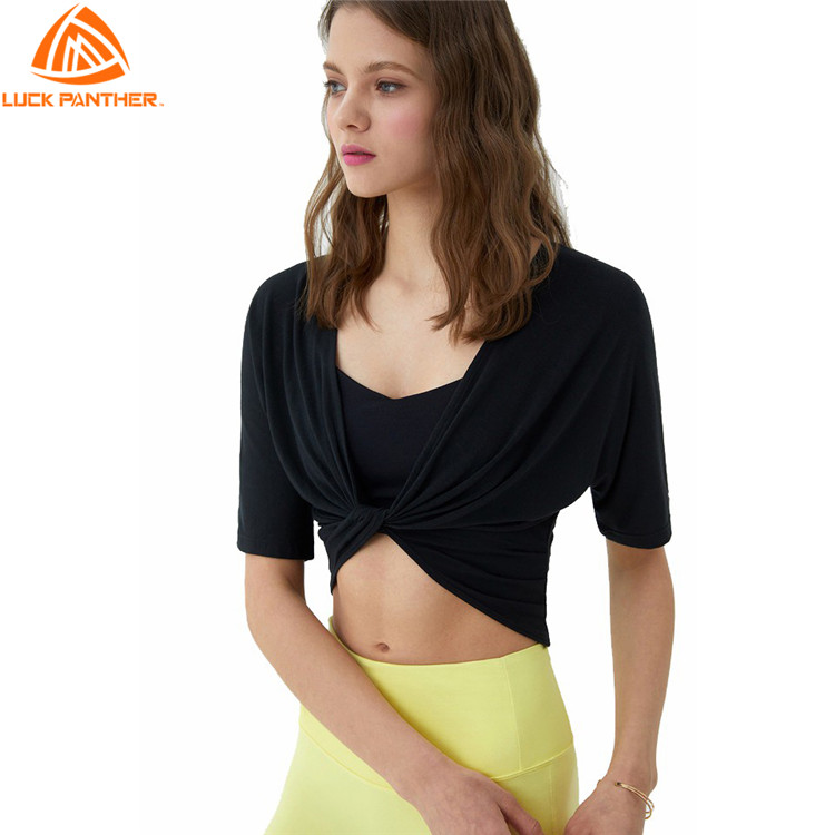 LuckPanther fitness wear girls t shirt for women casual yoga top