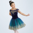 Professional Performance Wear Romantic Peacock Ballet Stage Costume Tutu