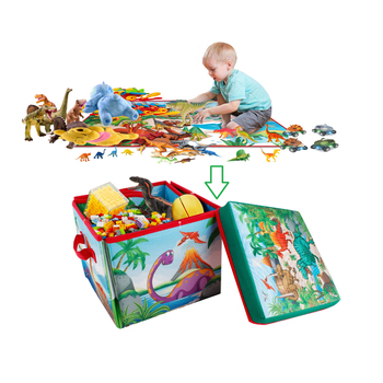 wholesale 2020 new 2 in 1 Convertible Dinosaur Toys Storage Dinosaur Play Mat