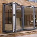 Doors Glass Aluminium Door Australian Standard Coated Aluminium Foldable Glass Soundproof Balcony Double Foldable Doors