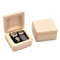 Small maple music box birthday gifts for husband diy wooden box