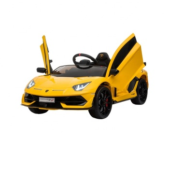 Licensed cool kids luxury cars lamborghini kids electric car two seater children electric cars toys