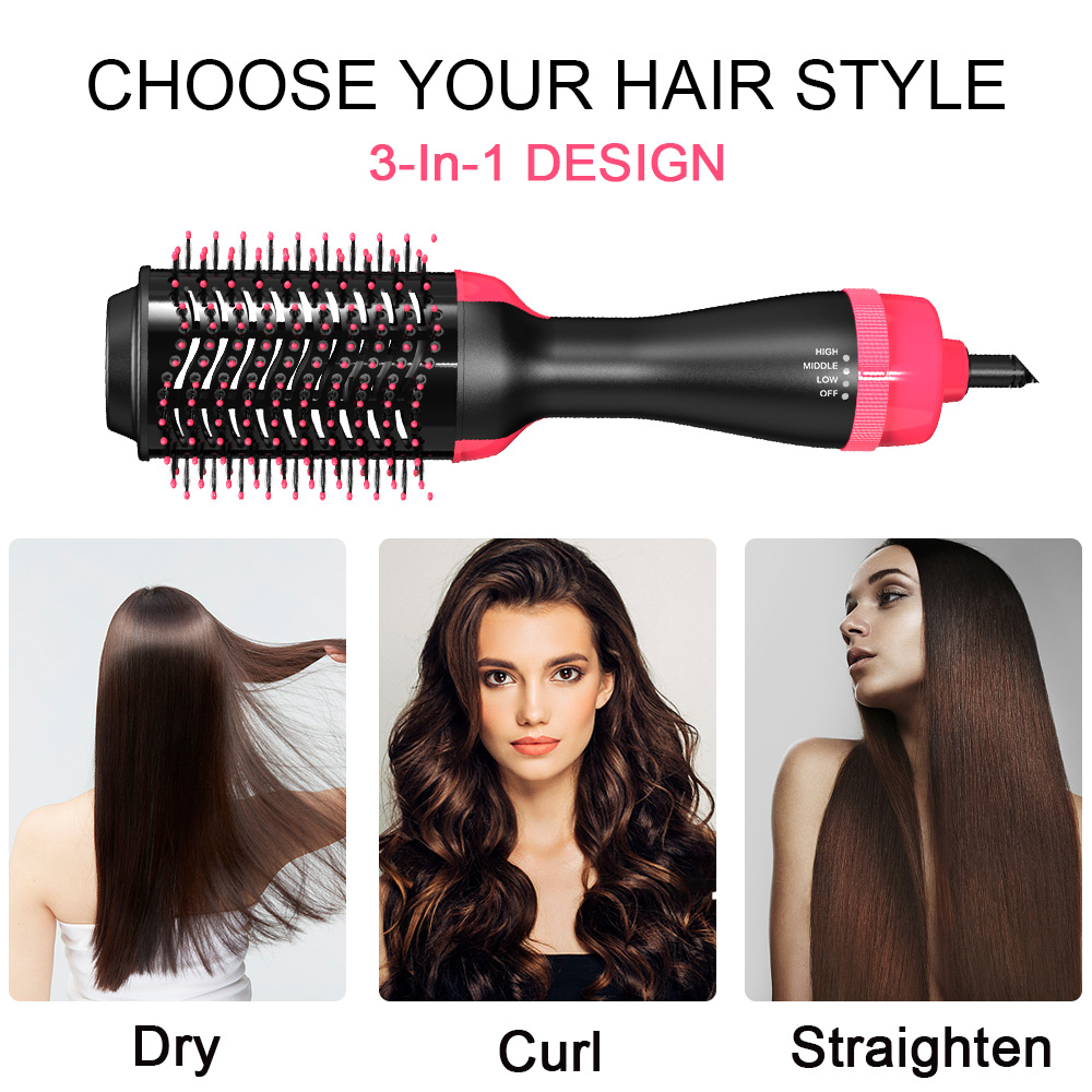 Oval Negative ions One step Hair dryer and volumizer Hot air brush hair dryer with 110v and 220v