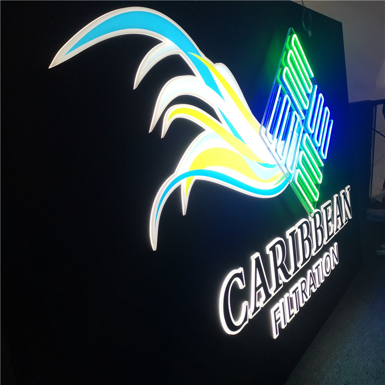 customized led acrylicled neon light box outdoor lightbox