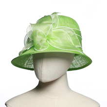 Ladies Wide Brim fancy Sinamay Church Fascinator Hat for Party
