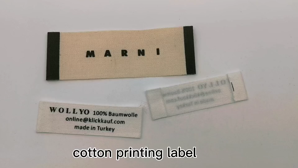 Fashion Custom Brand Adhesive Garment High Density Woven Label