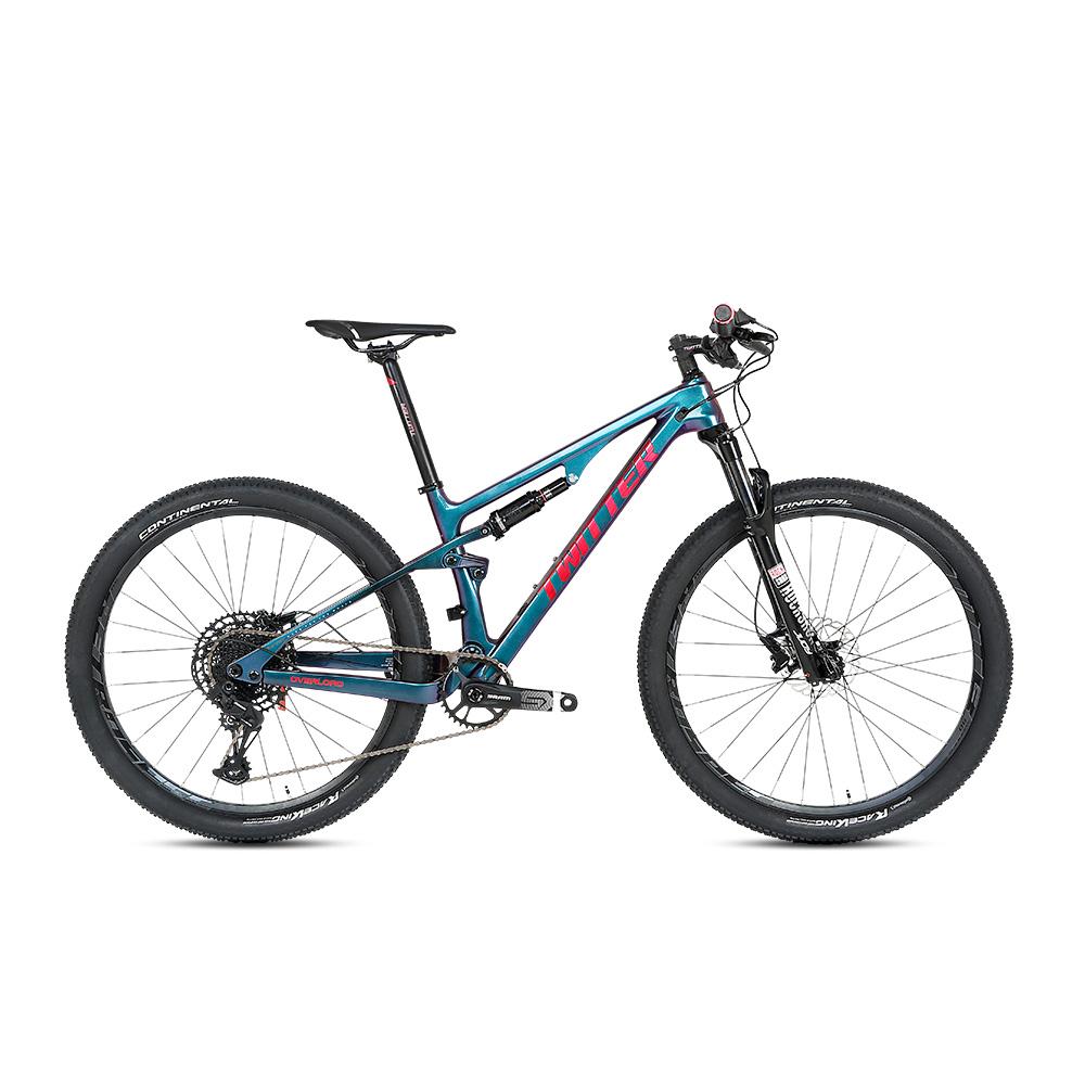 중국 자전거 공장 27.5 29 인치 탄소 섬유 전체 서스펜션 산악 자전거