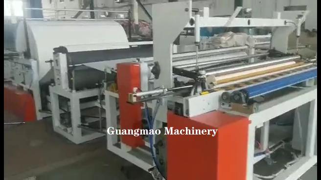 1575 машина для резки туалетной бумаги и тиснения большой рулон упаковочная машина для туалетной бумаги
