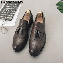 Мужские туфли с кисточками, мужские официальные лоферы, итальянские туфли, броги, офисная обувь, мужская элегантная Свадебная обувь 2020, Sepatu, ...(China)