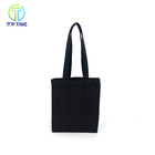 Promotional Customized Black 12oz Canvas Cotton Shopping Tote Bag