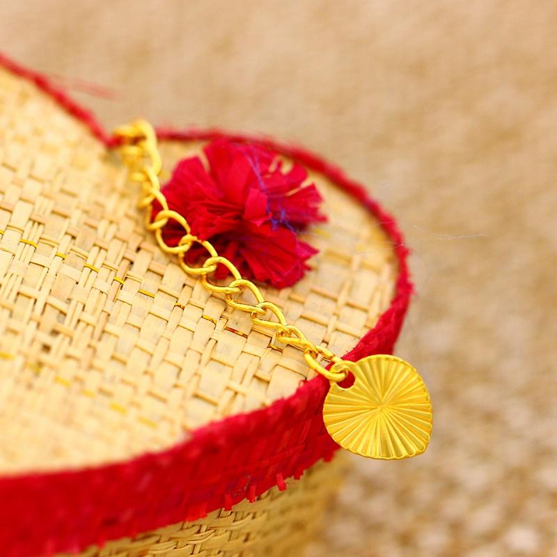 Bracelet à breloque couleur or 24k, LDJX-B44, bracelet à breloque, en alliage de cuivre rose pour femmes, costume
