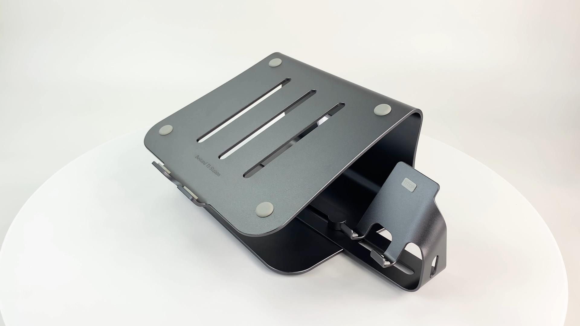 Ergonomic Aluminium Invisible Laptop Stand With Mobile Phone