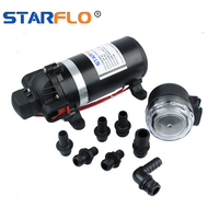 STARFLO 12V 80PSI 5.5LPM portable water jet pump high pressure water pump for car washer