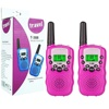 Walkie Talkies for Kids, Exterior Vox Box Voice Activated 22 Channels 2 Way Radio Toy with Backlit LCD Flashlight, 3 Miles Range