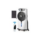 New design Portable water mist fan solar fan with remote control