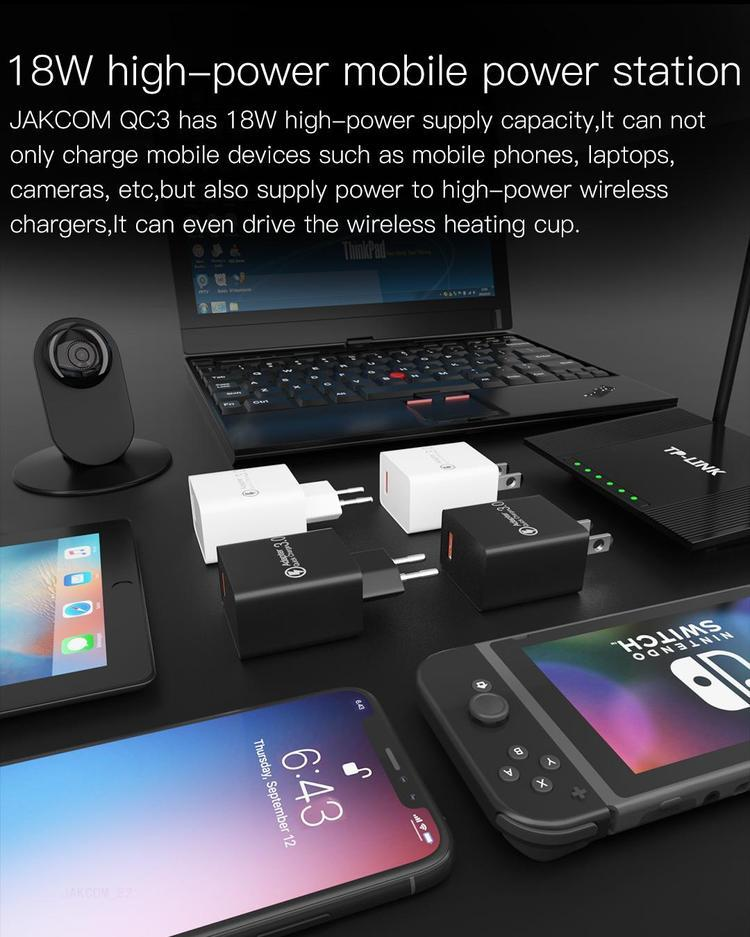 JAKCOM QC3 Super USB Quick Charge Adapter New Product of Chargers 2020 as 7.5v usb adapter brandon mebane chargers gordon melvin