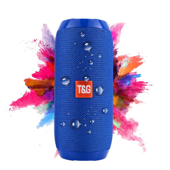 TG117 T&G UV Surface Treatment Clear Super Sound Speaker Horn Bass Speaker Portable Bluetooth Wireless Speaker with Microphone