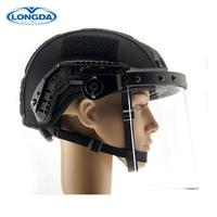 Tactical military safety protective ballistic helmet with visor
