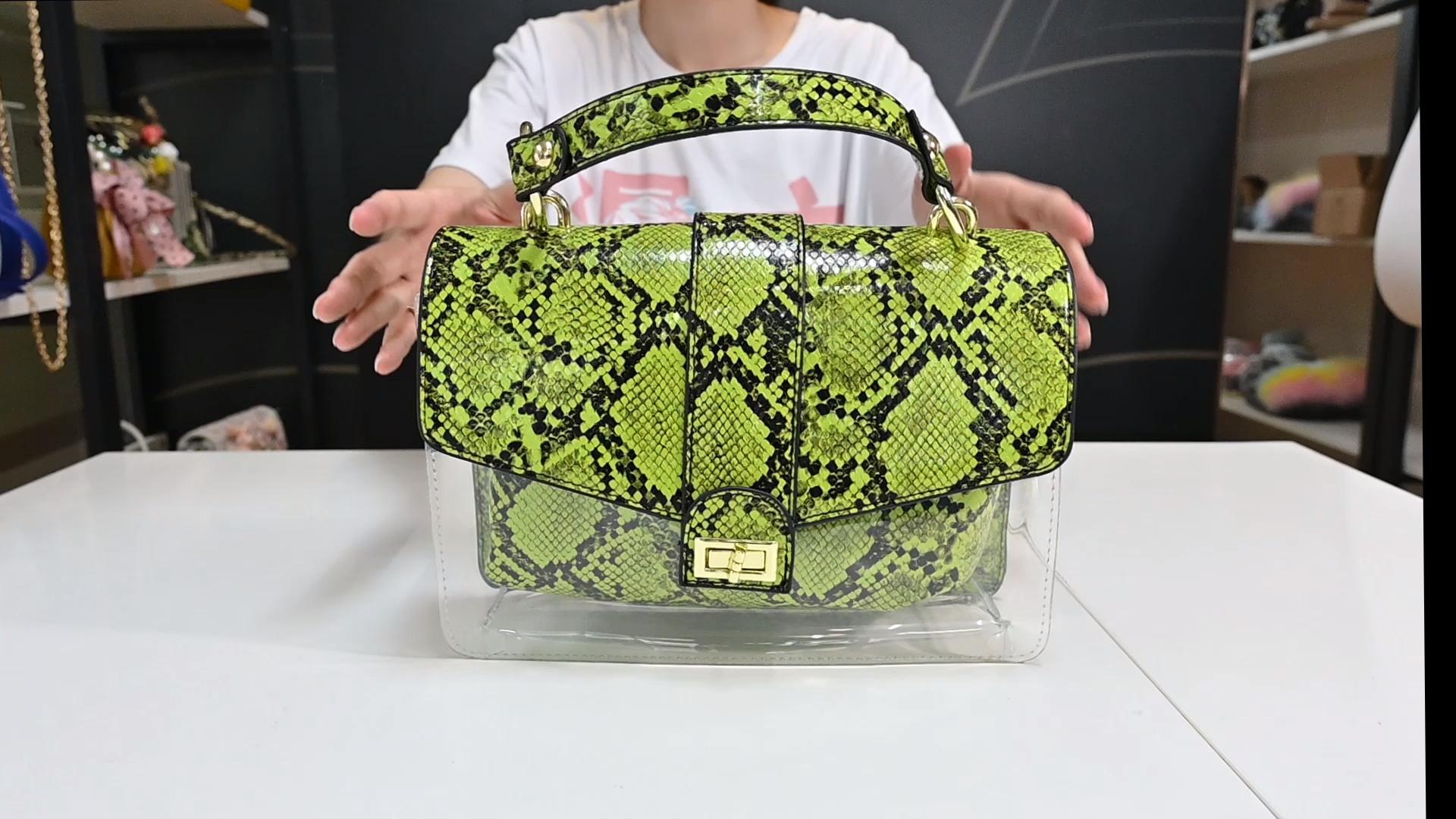 Taschen Frauen Designer Schlangen haut Clutch Tasche Handtaschen Umhängetasche und passende Hausschuhe für Frauen