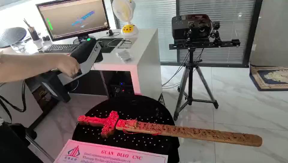 Scanner portátil a laser 3D 3D Reversa projeto de modelagem impressora Portátil para trabalhar madeira cnc router 3d artesanato escultura em pedra
