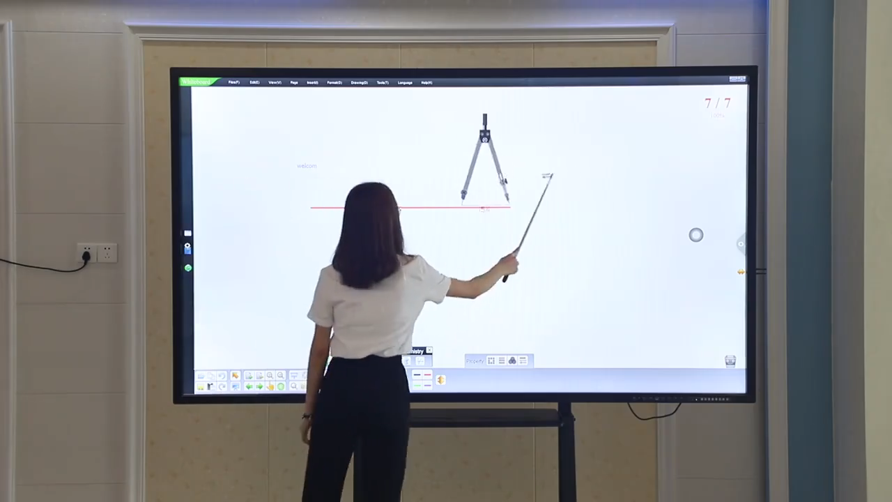 10 points IR touch screen whiteboard intelligent electronic educational equipment for schools