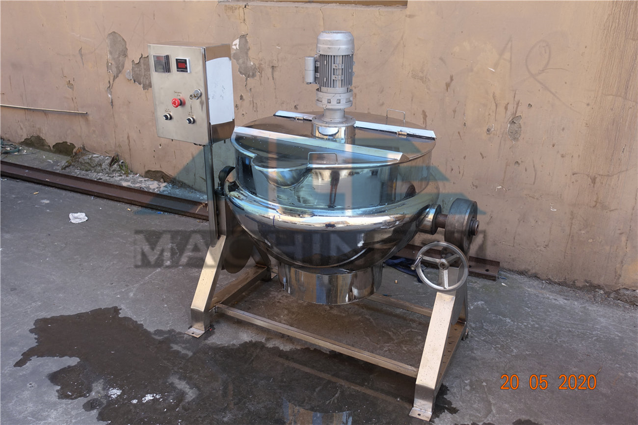 Ace 50~1200L Tilting Food Cooker Gas Steam Jacketed Kettle With Mixer / kettle Fruit Jam Cooking Equipment