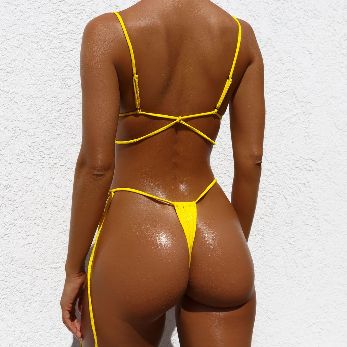 2020 New HJ Hot Sale High Cut Customized Swimsuit Lady custom Sexy Bandage String Bikini  Sexy Lady Swimsuit