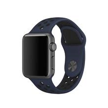 Мягкий спортивный силиконовый ремешок для IWatch 38 мм 42 мм 40 мм 44 мм силиконовый дышащий браслет для Apple Watch Band 5 4 3 2(Китай)