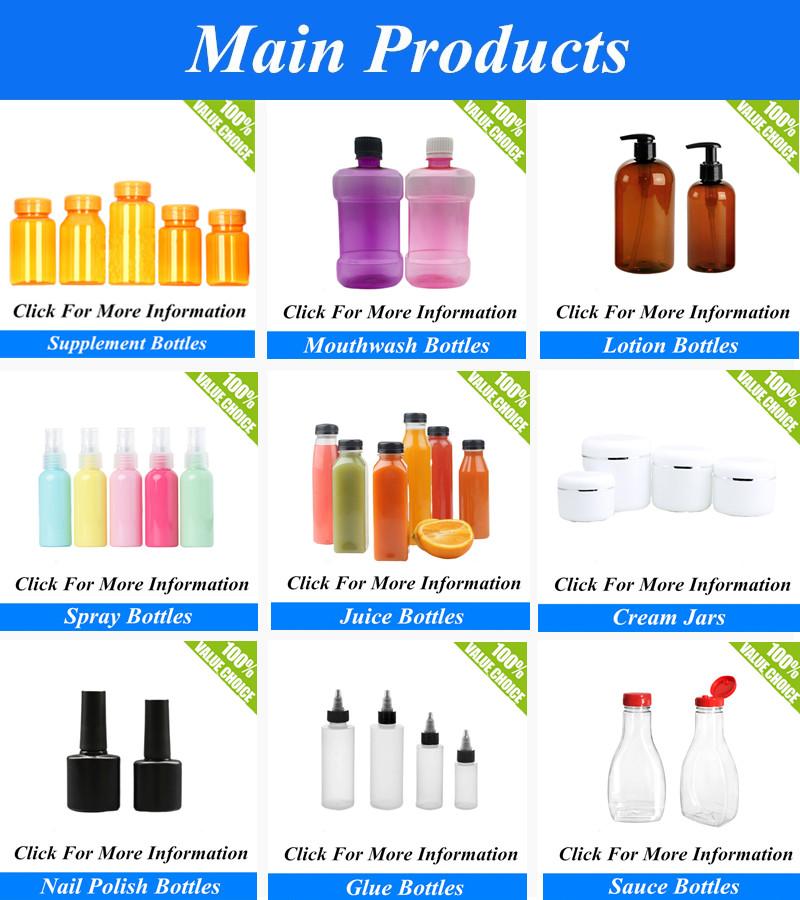 Heißer Verkauf 80CC 100CC 200CC 300CC Leere Pet Kunststoff Kapsel Flasche Großhandel