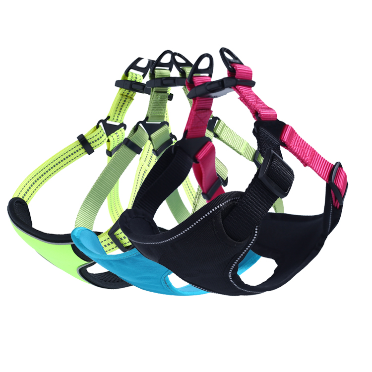 OEM Service Atmungsaktives Mesh Private Label Einfach Weg Soft Hund Harness für Pet