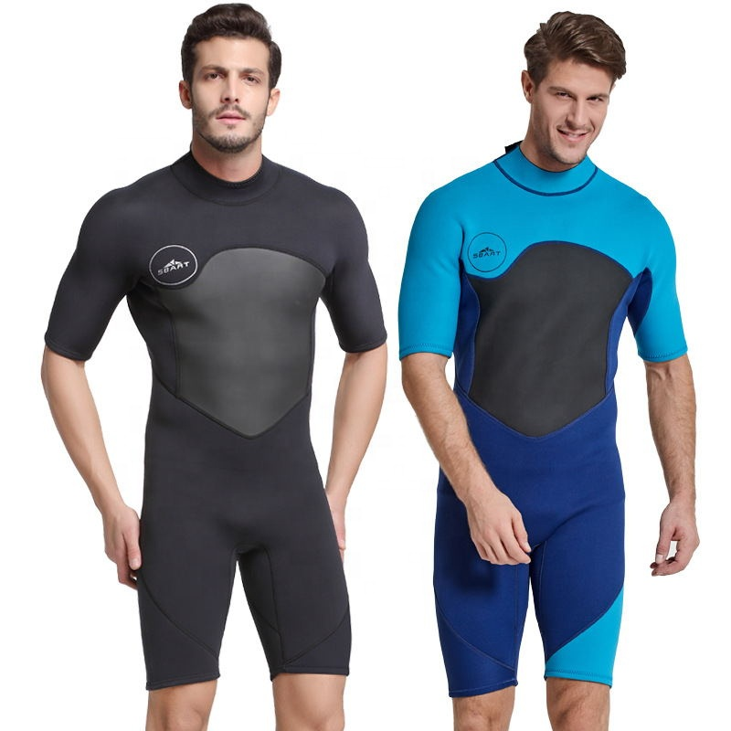 One-piece wetsuit 2mm warm and cold proof short-sleeved snorkeling suit sunblock surfing suit winter swimming suit