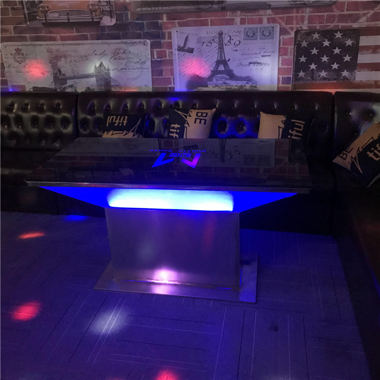 Cool bar table nightclub KTV led table wholesale hookah lounge furniture