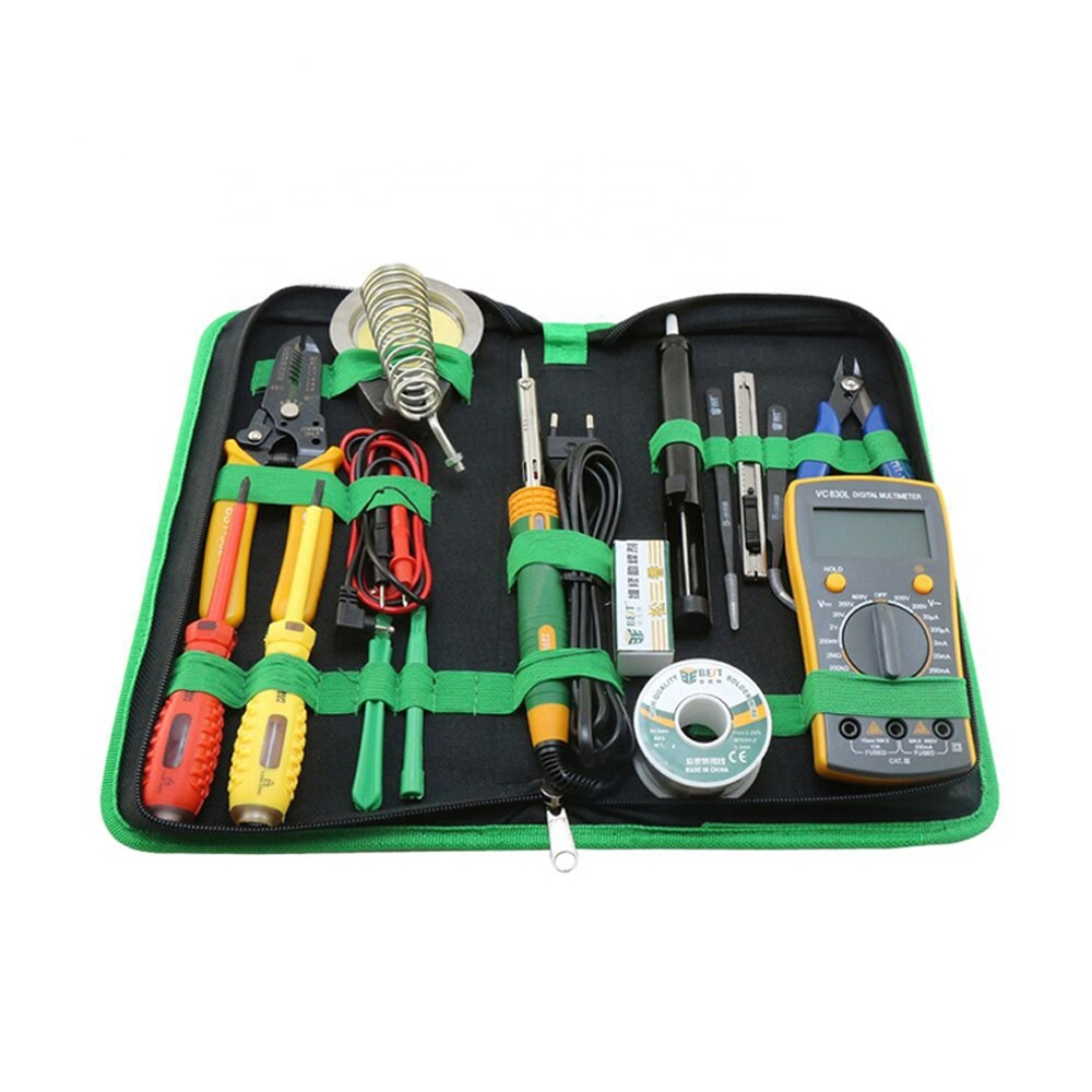 New Multifunctional Mobile Phone And Laptop Repairing Tools Kit with Soldering Iron Multimeter