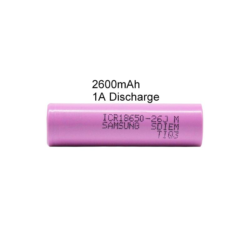 Authentic 3,7 V ICR 26JM 2600mAh Taschenlampe 18650 Batterie Akkus
