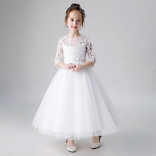 Свадебные платья для девочек с цветочным узором цвета шампанского; Yiiya B037; Детское платье для причастия; Новинка 2020 года; Фатиновые Бальные п...(Китай)